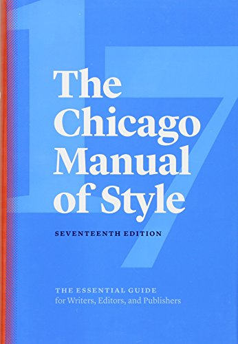 The Chicago Manual of Style, 17th edition: jacket image